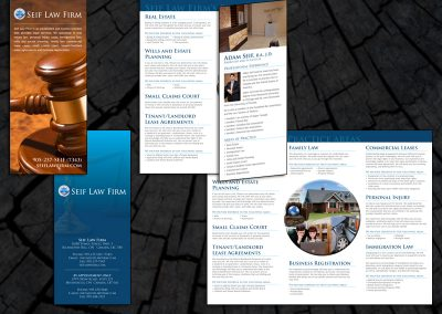 Brochure for Seif Law Firm