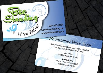 Bev Standing Voice Talent Business Cards