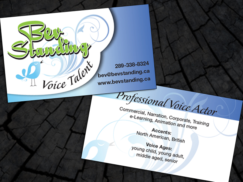 Business cards lj sales bev standing voice talent business cards reheart Images