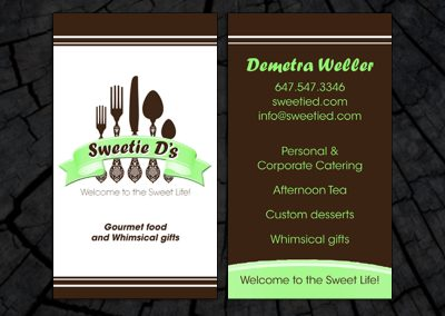 Sweetie D's Business Card