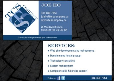 TCS Company Business Card