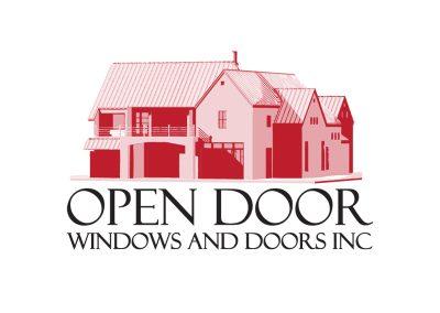 Logo Design Open Door Windows